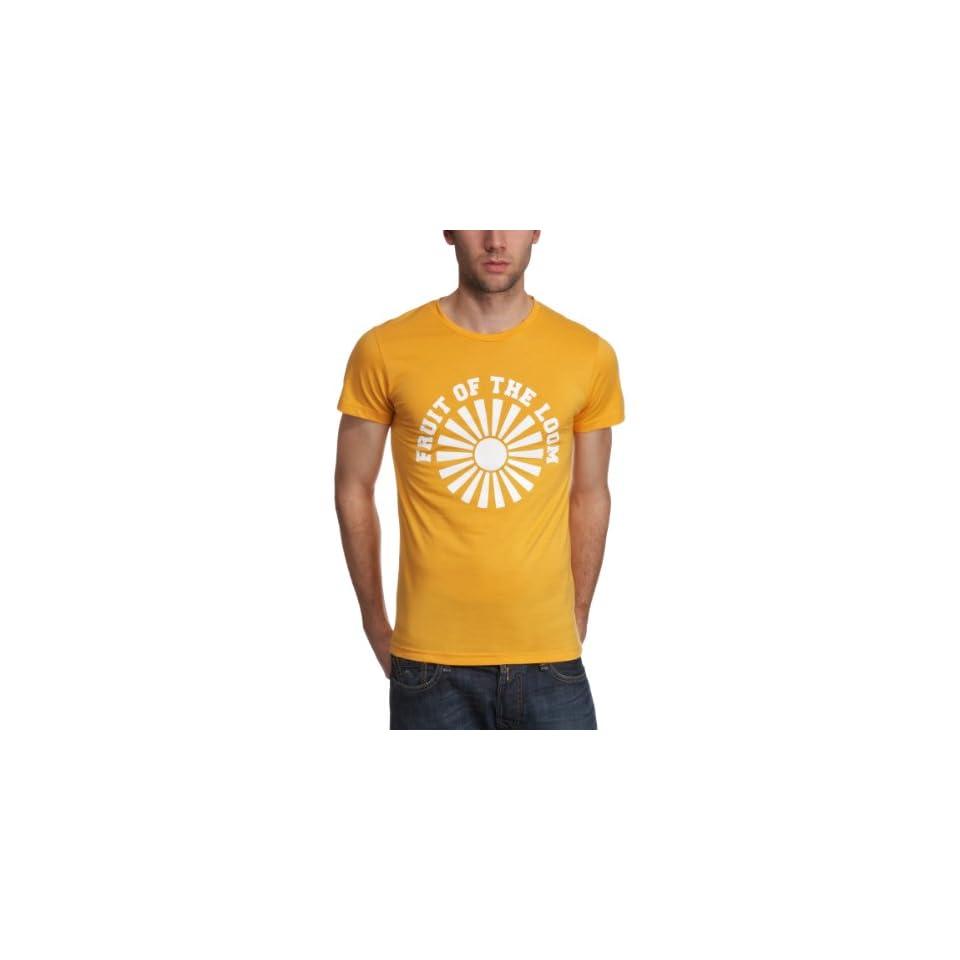 Fruit of the Loom Herren Shirt/ T Shirt, Tierdruck 11036PP125, Gr. 52/54 (L), Gelb (X3 Gelb) Bekleidung