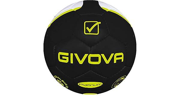 Danza de Vitrina Balón Platinum Givova fútbol, Nero/Giallo Fluo, 5 ...