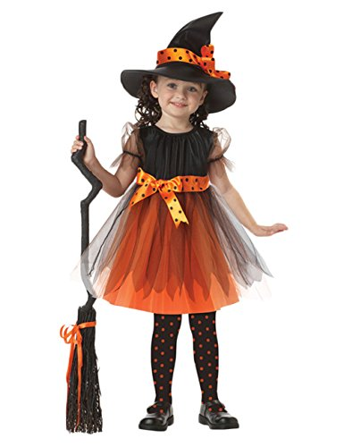 orange witch dress - 2