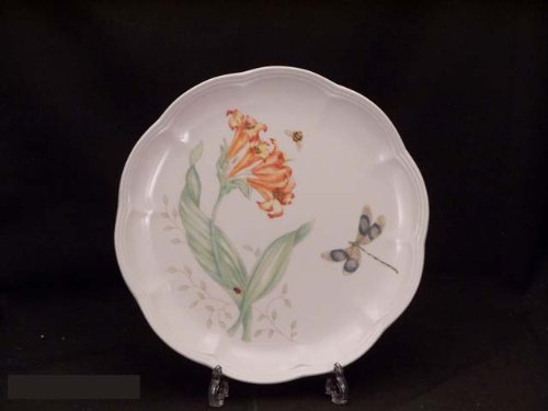 Lenox Butterfly Meadow Dragonfly Accent Plate in Ivory Multi