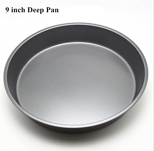 Fangfang Nonstick Deep Pizza Pan Pizza Tray Evenly Bakes Heat (9 Inch)