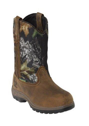 John Deere Women 10-inch Camo Brown Wellington Waterproof Hunting Work Boots 9.5 M