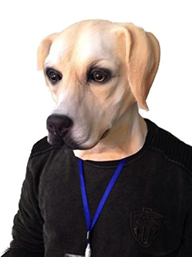 Rubber Johnnies Golden Labrador Dog Mask , Latex , Full Head , Canine , Animal -