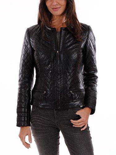 leatherjacket Womens Genuine Lambskin Motorcylce Leather Jacket
