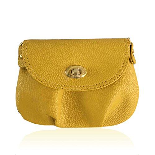 Hrph Neue Art und Weise der Frauen nette Mappen Umhängetasche Retro Kleine Taschen Solide PU-Leder Tasche #10 ScdznGtA8