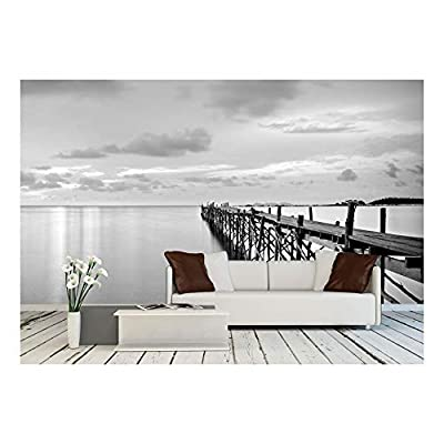 Professional Creation, Majestic Object of Art, Black and White Photography of a Beach Wooden Pier