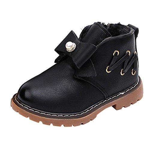 TPulling Mode Junge Und Mädchen Martin Stiefel Herbst Und Winter Kinder Warme Kurze Baumwolle Hinzufügen Stiefel Lässige Schuhe Schwarz