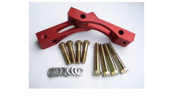 Amazon.com: Rennline Fits 964, 87-88 944 Turbo, 89-91 944S2, 92-95 968 Brake Caliper Adapter Kit Red: Automotive
