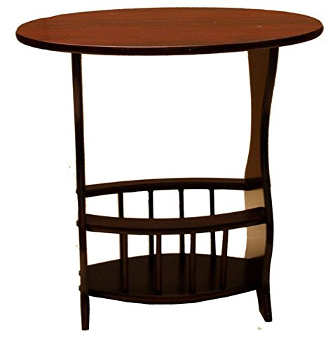 Amazing Buys Magazine Rack Side/End Table in A Cherry Finish