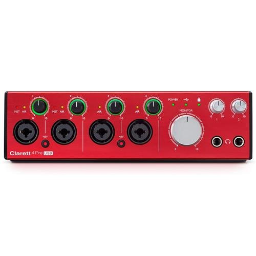 Focusrite Clarett 4Pre USB 18-In/8-Out Audio Interface