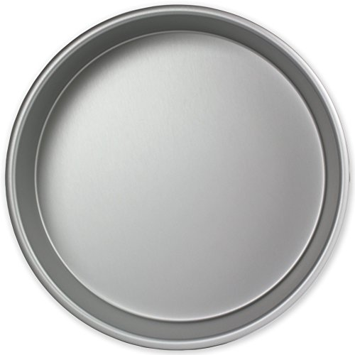 PME RND102 Round Seamless Professional Aluminum Baking Pan, 10'' x 2'', Silver by PME