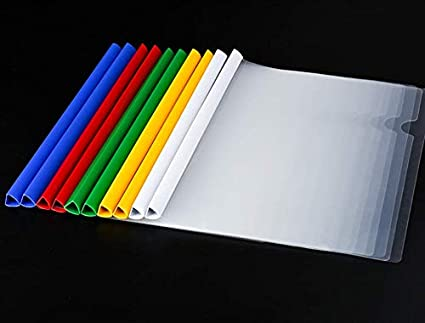 20 Pcs Solid Red for Letter//A4 Size Paper Transparent Resume Presentation File Folders Organizer Binder 18C, 100-sheet Capacity Clear Report Covers with Solid Color 14mm Sliding Bar