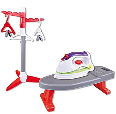 Liberty Imports Little Helper Ironing Playset Toy with Iron, Board, Clothes Dryer, and Hangers