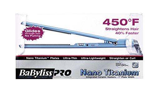 BaByliss Pro BABNT3072 Nano Titanium-Plated Ultra-Thin Straightening Iron, 1 Inch
