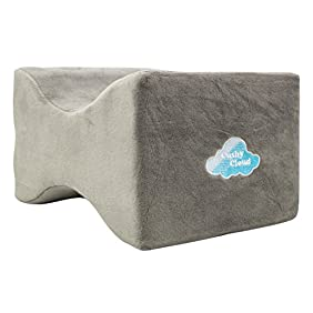 Cushy Cloud Orthopedic Memory Foam Knee Pillow Perfect Pain Relief for Sciatica, Back Pain, Leg Pain, Pregnancy, Hip and Joint Pain - Leg Positioner Contour Knee Spacer Wedge