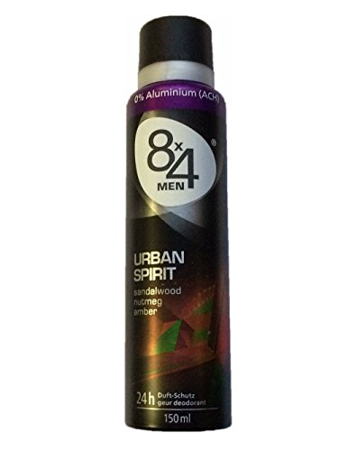 8x4 Deospray Urban Spirit 150ml, 6er Pack (6x150ml)