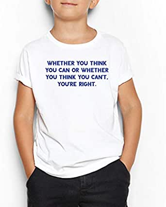 Can OR Can't Round Neck T-Shirt For Kids 11-12 Years