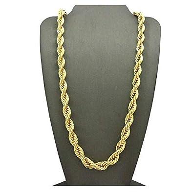 84490d0b2acf Dubai- Colección de Cadena de 7 mm de Oro de 24 Quilates con Colgante de  joyería de Moda para Llevar Solos o con Colgantes