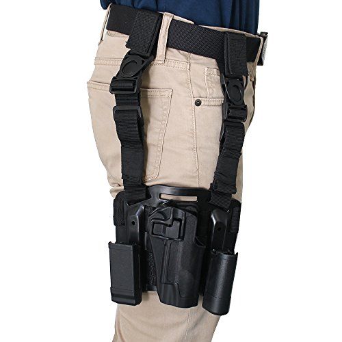 AGPtek-Black-Tan-Color-Quick-Tactical-Military-Special-Forces-Right-Hand-Paddle-Leg-Belt-Fit-Drop-Leg-Gun-Holster-for-Colt-1911