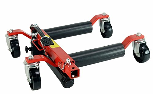 (4) Dragway Tools 12'' Hydraulic Wheel Dolly Vehicle Positioning Jack Lift Hoist with 1500 lb Capacity by Dragway Tools (Image #1)