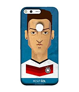 ColorKing Football Ozil Germany 01 Blue shell case cover for Google Pixel
