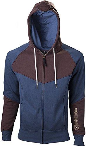 Assassins Creed Unity Sudadera capucha con cremallera azul/marrón S