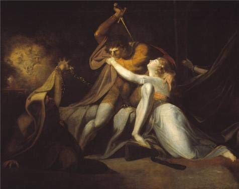 COVASA The Polyster Canvas of Oil Painting 'Henry Fuseli - Percival Delivering Belisane from The Enchantment of Urma,1783',Size: 24x30 Inch