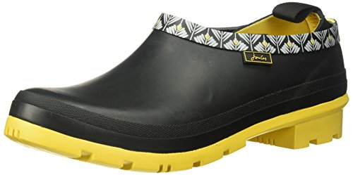 Joules Womens Pop-ons Rubber Shoes Schwarz