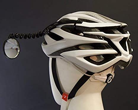 Bike bicycle riding mirror helmet mount rearview rear view eyeglass TEUS BWUS