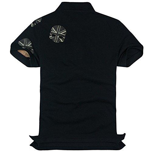 HYDROGEN ポロシャツ メンズ ゴルフ コットン 綿 100% 半袖 夏 プリント 7220 [並行輸入品]