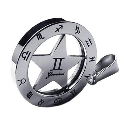 KONOV Stainless Spinner Necklace Pendant