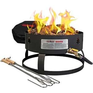 Camp Chef Sequoia Portable Fire Pit, Black, Black