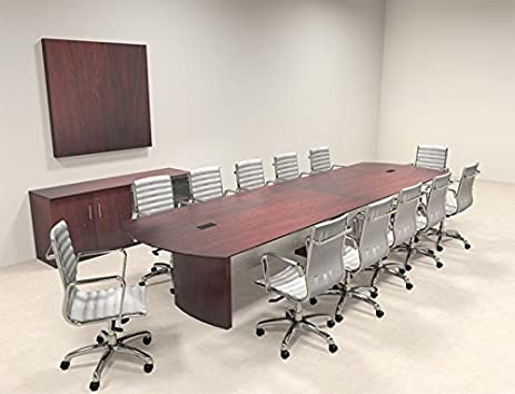 Amazoncom Modern Contemporary Feet Conference Table MTMED - 14 foot conference room table