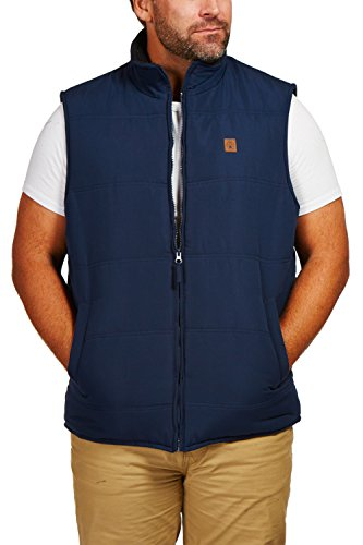 - Coleman Microfiber Quilted Vest With Sherpa Collar (Medium, Navy)