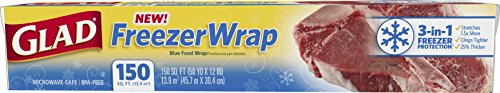 Glad Freezer Wrap, 150 Square Foot Roll by Glad
