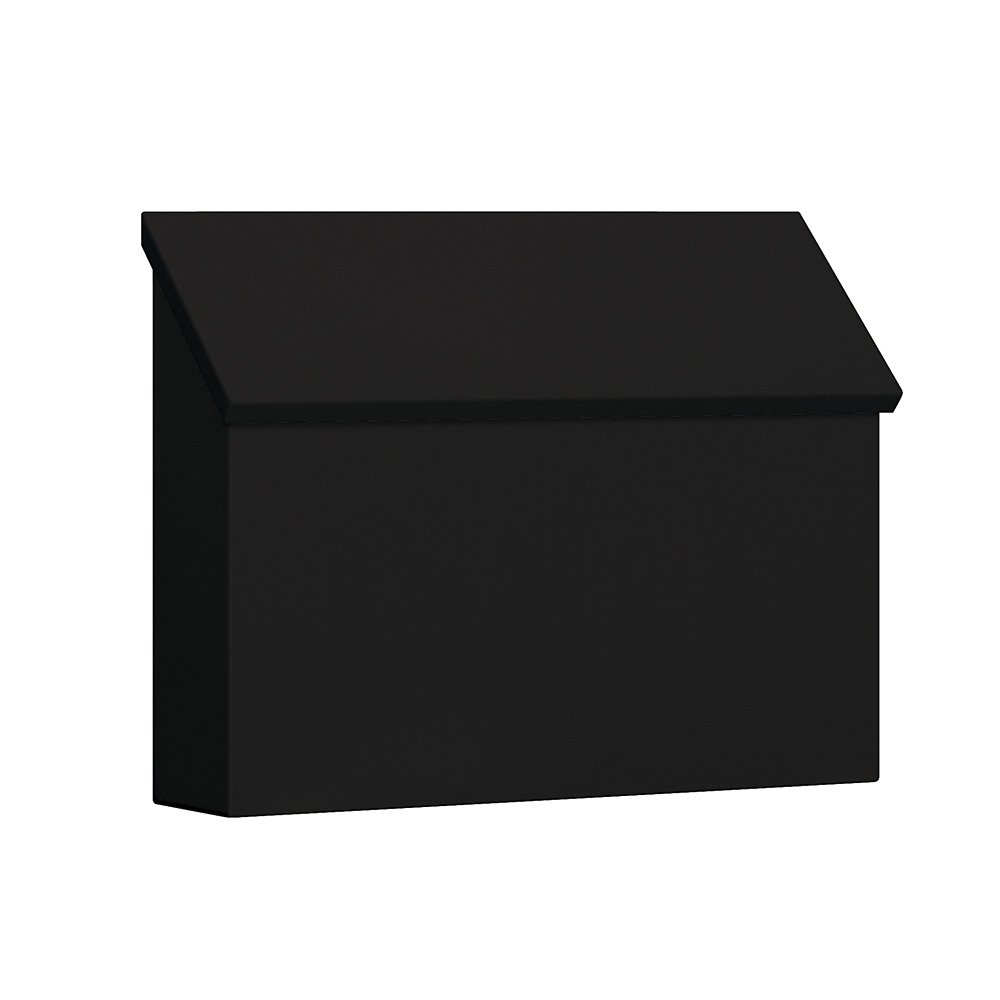 Salsbury Industries 4610BLK Traditional Mailbox, Standard, Horizontal Style, Black