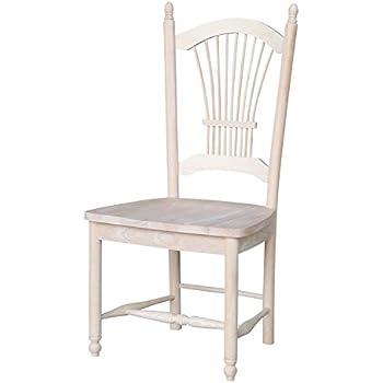 Amazon.com: doc-lwh-w Dover – Silla de comedor con asiento ...