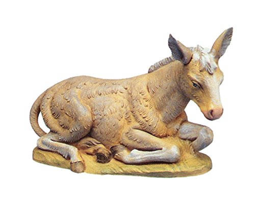 Collectible 12'' Seated Donkey Nativity by Roman Collectibles