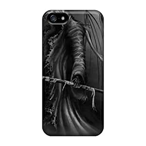 Iphone 5/5s Iag16983sirb Custom Realistic Grim Reaper Skin Shock Absorption Cell-phone Hard Cover -CharlesPoirier