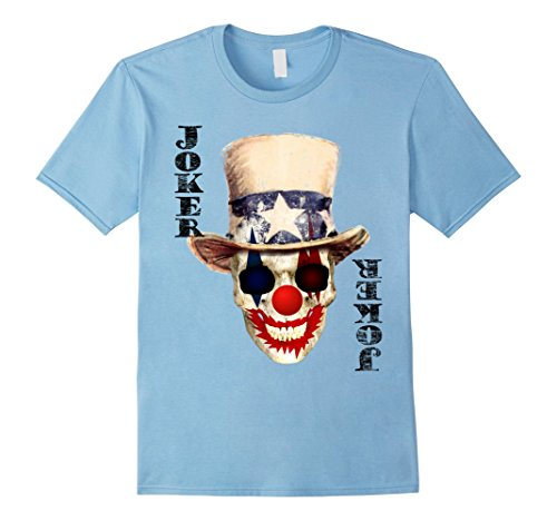 Mens Playing Card Joker Halloween Costume T-Shirt Large Baby Blue