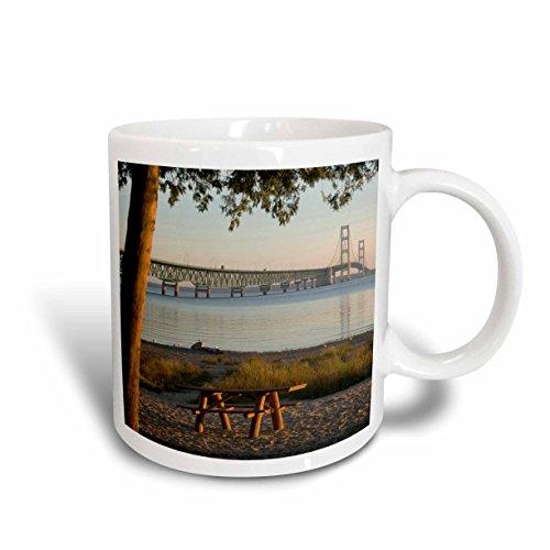 3dRose USA, Michigan, Mackinaw City, Mackinac Bridge - Us23 Pha0004 - Peter Hawkins - Ceramic Mug, 15-Ounce - City Outlet In Michigan