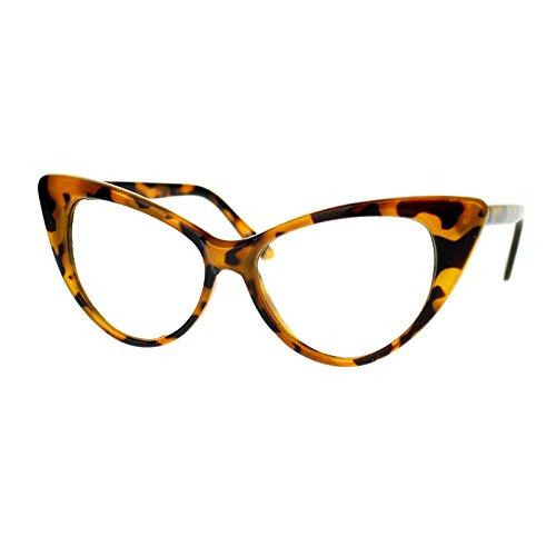 Stylish Eyeglasses Frame (Women's Clear Lens Eyeglasses Stylish Cateye Frame Glasses Tortoise)