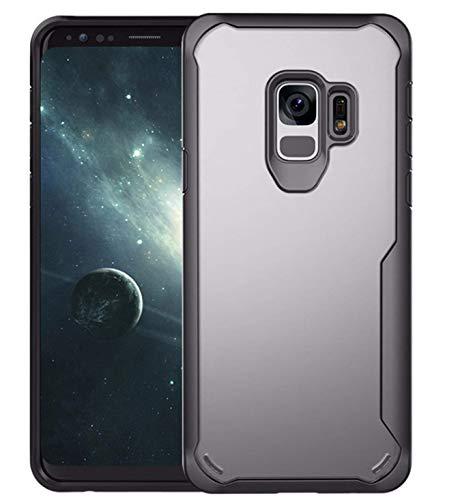 Plus Back Cover For Samsung Galaxy S9 TPU+Plastic   Black
