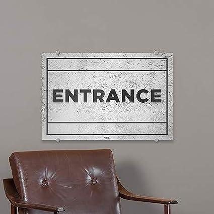 5-Pack Entrance CGSignLab Basic Gray Premium Brushed Aluminum Sign 27x18