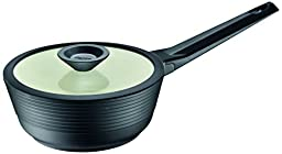 Domo D59CZ018 1.45 quart Sauce Pan with Glass Lid, Small, Black