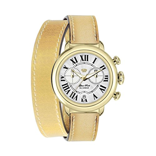 Glam Rock Women's GR77139 Bal Harbour Analog Display Swiss Quartz Beige Watch