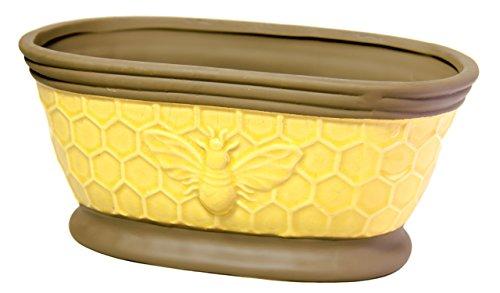 Napco Oval Ceramic Bumble Bee Indoor/Outdoor Garden Planter ()