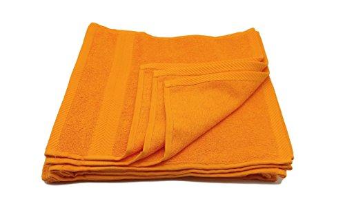 Terry Towels, washcloths Towel, Orange, Set of 12 (Washcloths Orange)