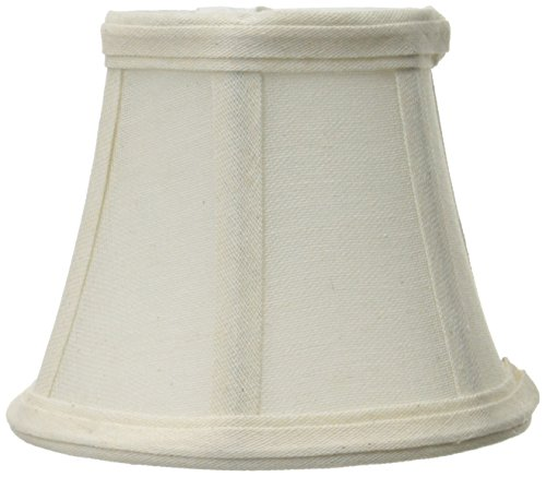 Lite Source CH5183-5 5-Inch Lamp Shade, Off-White