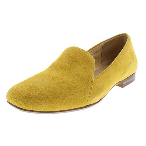 Naturalizer Womens Emiline Suede Slip On Loafers Yellow 4.5 Medium (B,M)